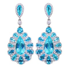 GIA Certified Paraiba Tourmaline Earrings Set in Platinum