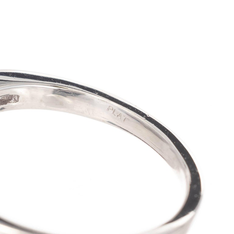 Women's GIA Certified Pear Sapphire Diamond Swirl Bypass Platinum Cocktail Ring For Sale