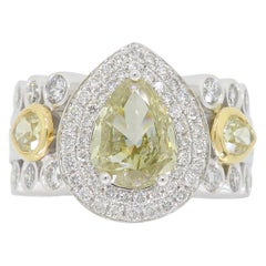 GIA Certified Pear Shaped Diamond Ring