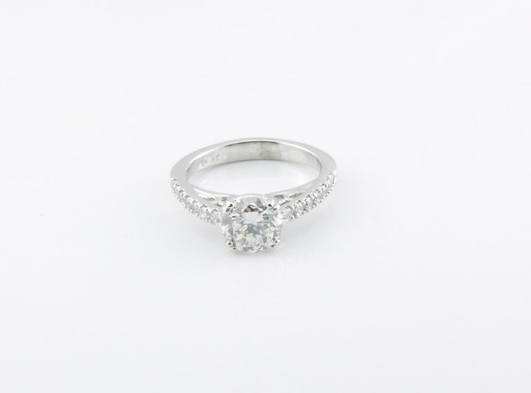 GIA Certified Platinum Diamond Engagement Ring For Sale 3