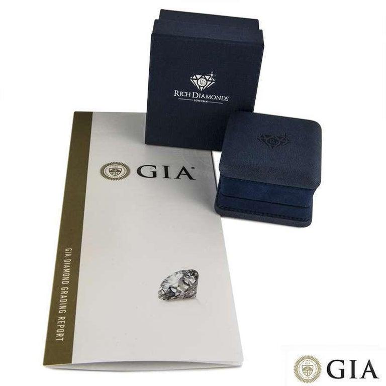 GIA Certified Platinum Emerald Cut Diamond Engagement Ring 1.21 Carat D/VVS2 For Sale 1