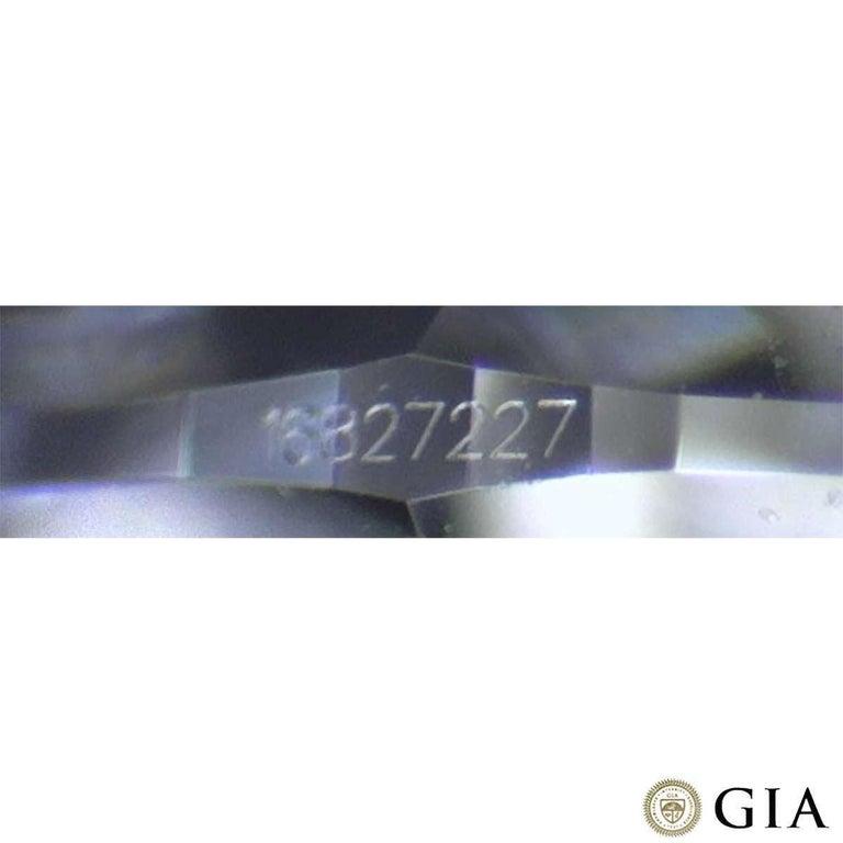 Women's GIA Cert Platinum Round Brilliant Cut Diamond Engagement Ring 1.15 Carat D/VVS2 For Sale