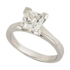 GIA Certified Princess Cut Diamond Engagement Solitaire Ring 2.01 Carats