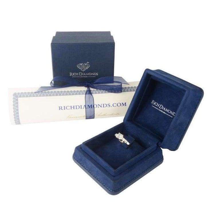 Women's GIA Certified Princess Cut Diamond Ring 1.15 Carat I VVS1 For Sale