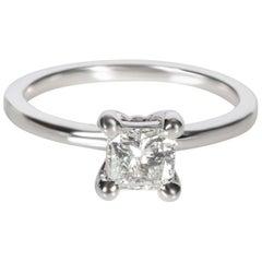 GIA Certified Princess Diamond Ring in 14 Karat White Gold F VS1 0.67 Carat