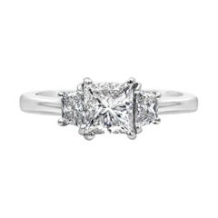 Roman Malakov, GIA Certified Radiant Cut Diamond Three-Stone Engagement Ring