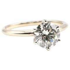 GIA Certified Round Brilliant 1.74 Carat K SI1 14 Karat Diamond Engagement Ring