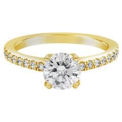 Roman Malakov GIA Certified Round Brilliant Diamond Pavé Engagement Ring