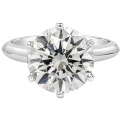 GIA Certified Round Diamond Solitaire Engagement Ring