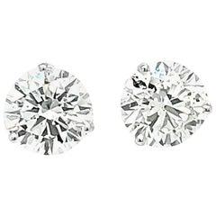 GIA Certified 6.32 carat Round Diamond Stud Earring
