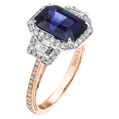 GIA Certified Sapphire 3-Stone Ring