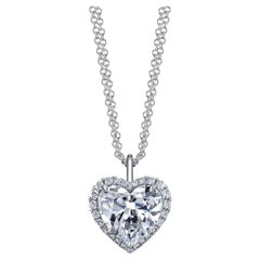 GIA Certified Sparkly 5.02ct Heart Shape, E, VS1