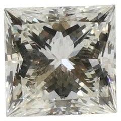 GIA Certified Square Modified Brilliant Cut 1.06ct J VS1 Princess Loose Diamond