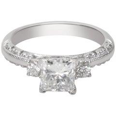 GIA Certified Tacori Diamond Engagement Ring '1.11 Carat'