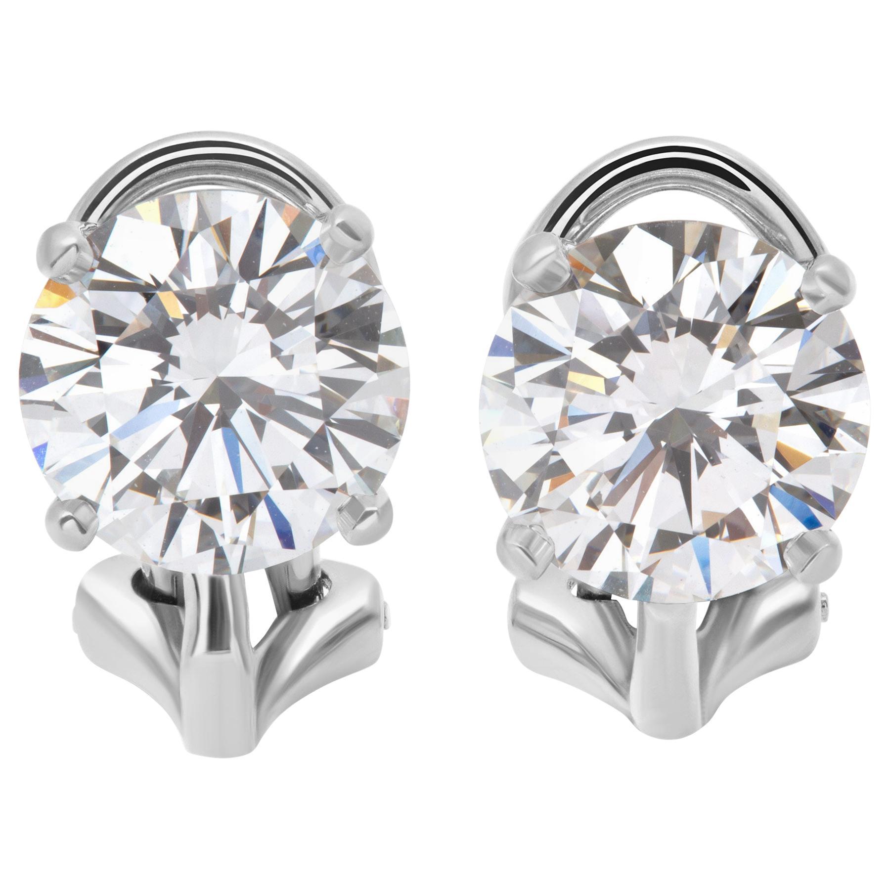 GIA Certified Tiffany & Co. Diamond Stud Earrings in Platinum