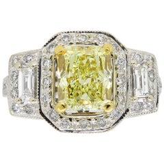 GIA Certified Triple Halo Diamond Ring
