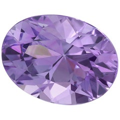 GIA Certified Unheated 1.97 Oval Pinkish Purple Sapphire Loose Stone
