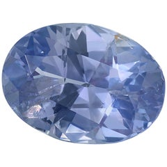 GIA Certified Unheated 4.67 Carat Oval Blue-Violet Color Change Sapphire