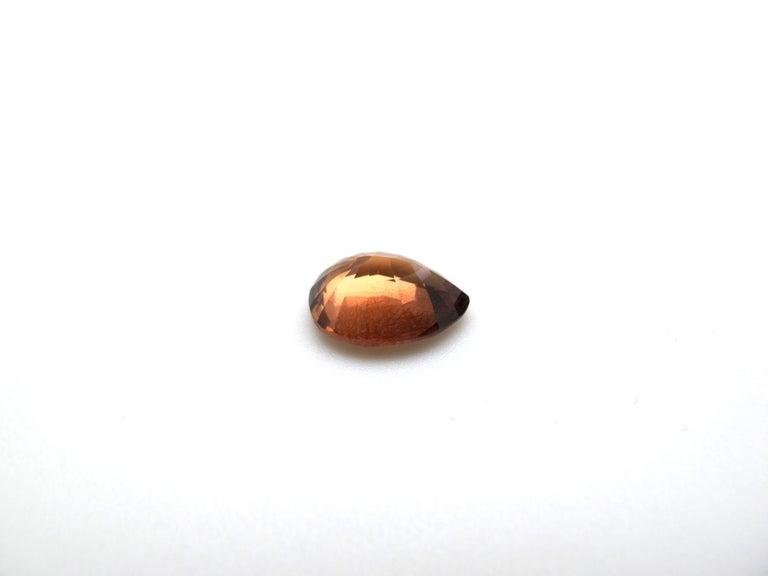Pear Cut GIA Certified Unheated 5.18 Carat Pear Shaped Brownish-Orange Sapphire For Sale