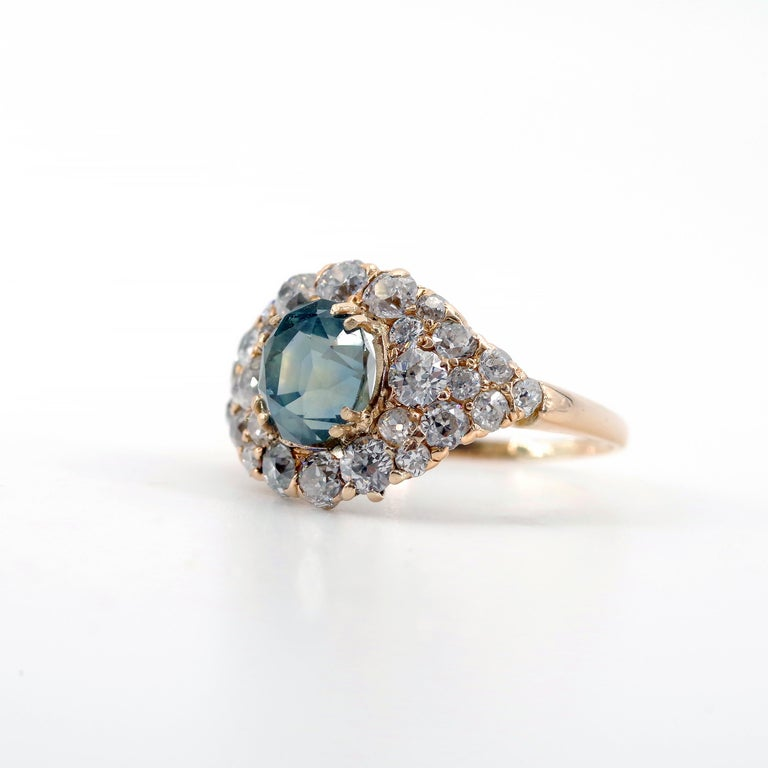 Think of the rich, royal blue of Kate Middleton's Ceylon sapphire engagement ring. To many people, that's the perfect—the only—color for a sapphire ring. This is *not* Kate Middleton's Ceylon sapphire engagement ring. This is a Victorian-era Montana
