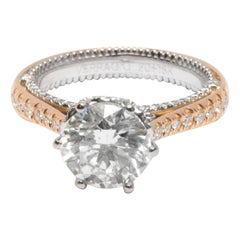 GIA Certified Verragio Diamond Engagement Ring in 2-Tone Gold '2.02 Carat H/SI2'