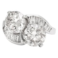 "GIA Certified ""You and Me"" Diamond Ring"