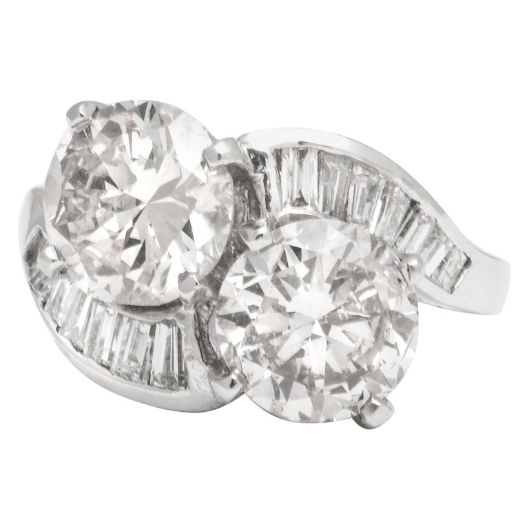 """GIA Certified """"You and Me"""" Diamond Ring For Sale"""