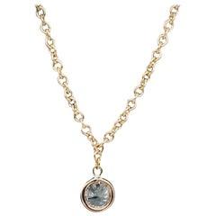 GIA Diamond Ankle Bracelet with .46 Carat Round Diamond in 18 Karat Gold