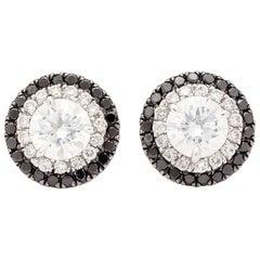 GIA Diamond Halo Stud Earrings