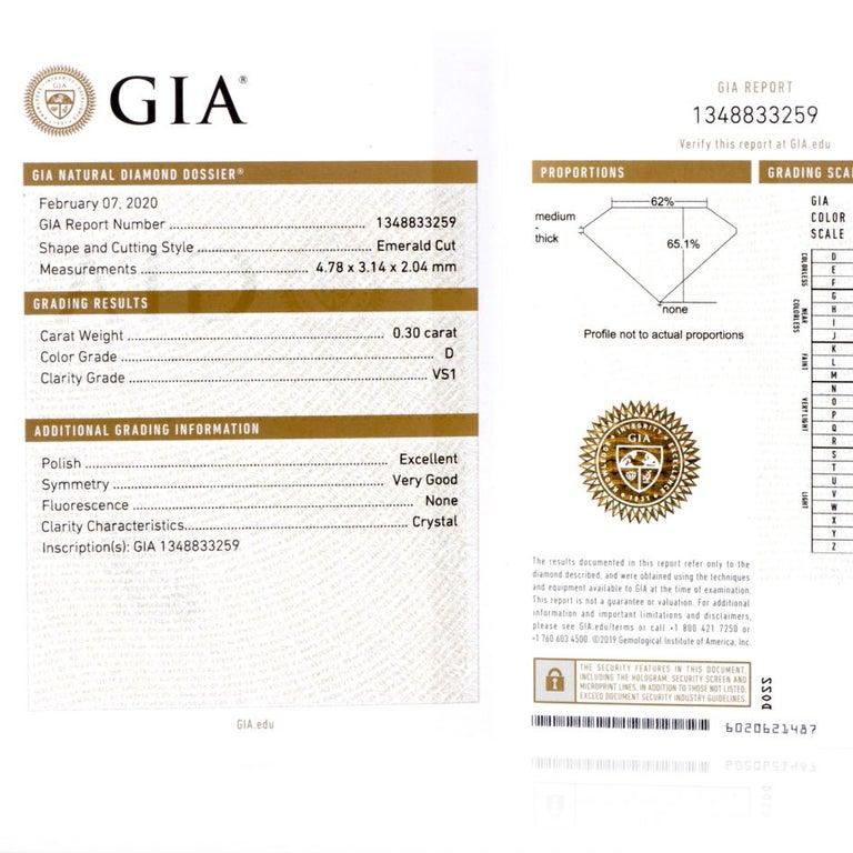 GIA Emerald Cut Diamond Platinum Eternity Band Ring For Sale 6