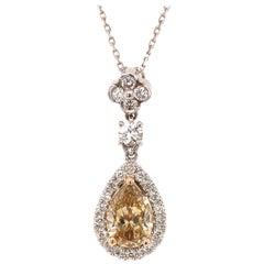 GIA Fancy Brown-Yellow Diamond Pendant