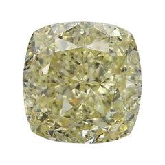 GIA Fancy Light Yellow 10.52 Carat Cushion Diamond