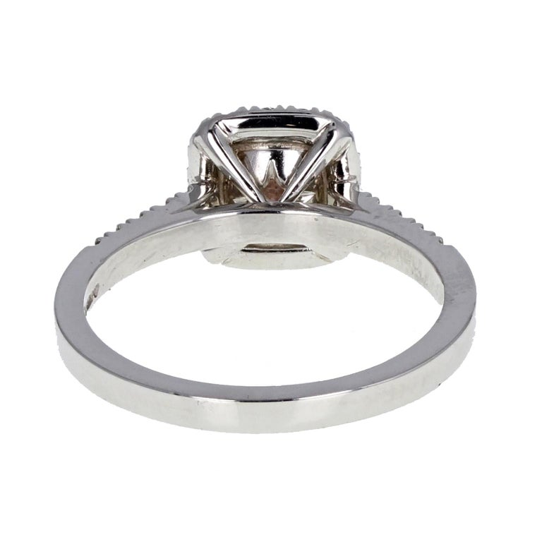 Engagement Rings Newcastle: GIA Fancy Pink 1.05 Carat Radiant Diamond Halo Solitaire