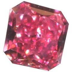 GIA Fancy Vivid Pink Radiant Cut Diamond