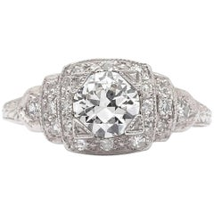 GIA G/VS2 Vintage Diamond Engagement Ring