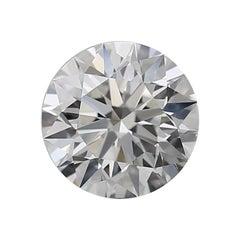 GIA Graded 0.74 Carat Round Shape Diamond