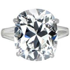 GIA Brilliant Cushion 4.65 Carat Diamond Ring
