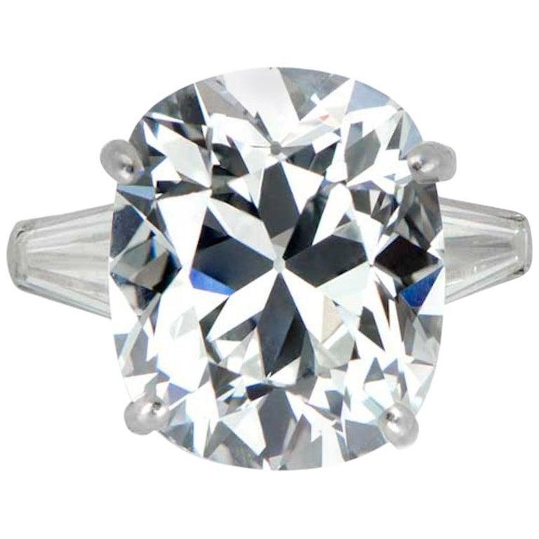 GIA Brilliant Cushion 4.65 Carat Diamond Ring For Sale