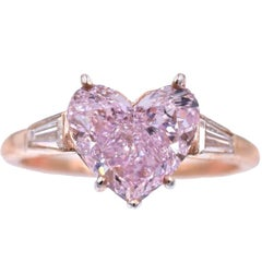 NALLY GIA Pink Color Heart Shape Diamond Ring