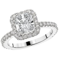 GIA Radiant Cut Diamond Engagement Ring Platinum 950
