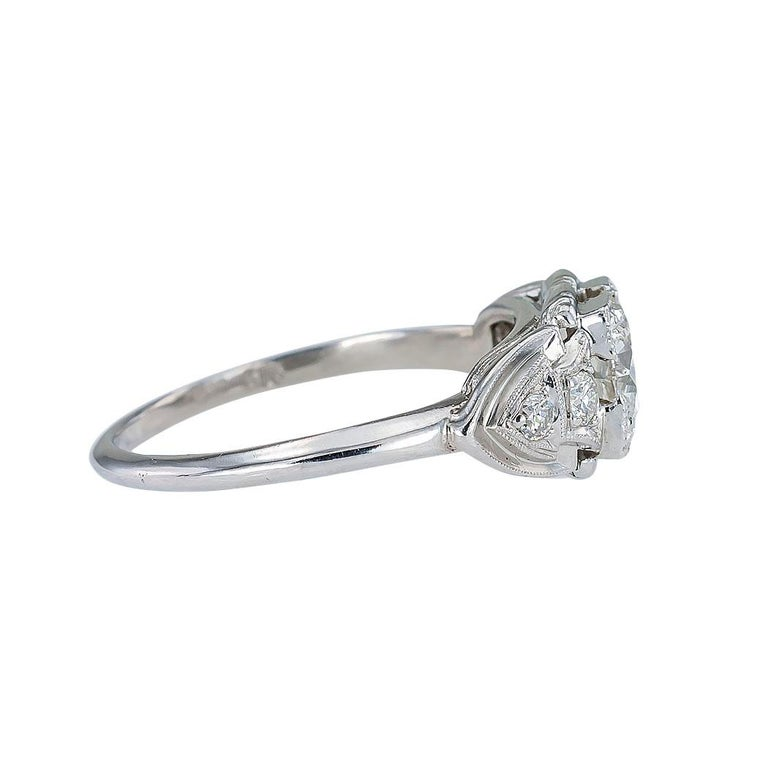 GIA Report Certified 0.83 Carat Diamond Solitaire Platinum Engagement Ring In Good Condition For Sale In Los Angeles, CA