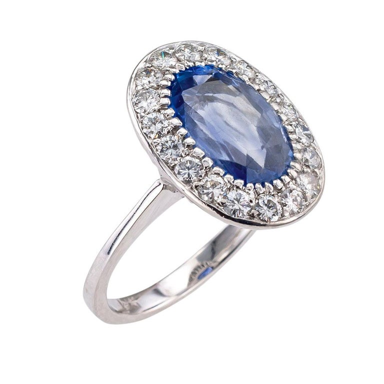 GIA report certified unheated Ceylon sapphire diamond and white gold ring circa 1950.   Love it because it caught your eye, and we are here to connect you with beautiful and affordable jewelry.  It is time to claim a reward for Yourself!  Simple and