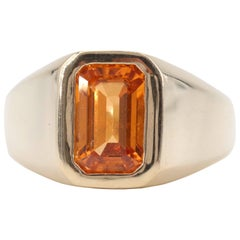 GIA Spessartine Garnet Ring is Old School Quality and New School Cool