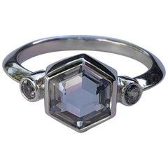 GIA Unheated Montana Sapphire Brazilian Alexandrite Platinum Engagement Ring