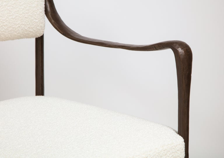 Art Deco Giac Settee with Oil-Rubbed Bronze Hand Patinated Frame Contemporary Seating