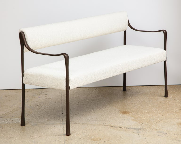 Giac Settee with Oil-Rubbed Bronze Hand Patinated Frame Contemporary Seating