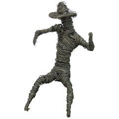 Giacometti Inspired Brutalist Wire Sculpture