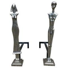 Giacometti Style Andirons