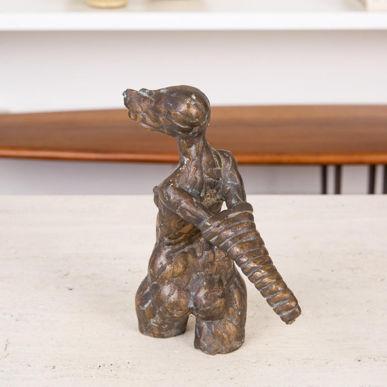 Giacometti Style Bronze Figurative Sculpture In Excellent Condition For Sale In Los Angeles, CA