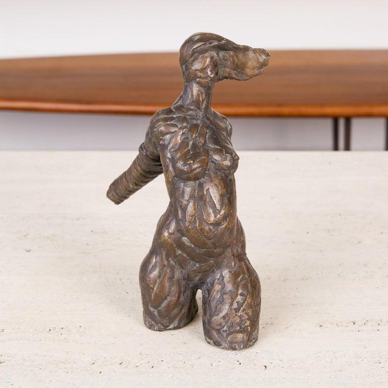 Giacometti Style Bronze Figurative Sculpture For Sale 2